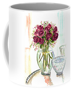 Valentines Crystal Rose Coffee Mug