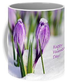 Valentines Day Crocuses Coffee Mug