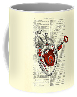 Valentine's Day Gift, Heart With Key Coffee Mug