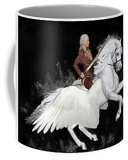 Coffee Mug featuring the painting Valkyrie by Valerie Anne Kelly