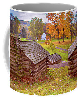 Valley Forge Huts In Fall Coffee Mug