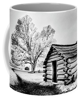 Coffee Mug featuring the photograph Valley Forge Winter Troops Hut                           by Paul W Faust - Impressions of Light
