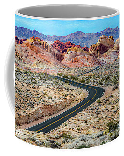 Road Through The Valley Of Fire Coffee Mug