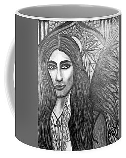 Coffee Mug featuring the drawing Vampire Angel by Absinthe Art By Michelle LeAnn Scott