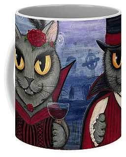 Vampire Cat Couple Coffee Mug