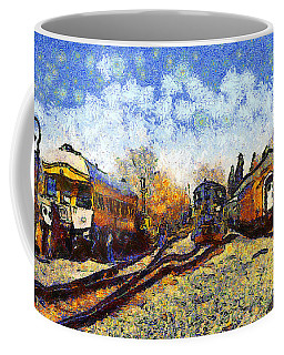 Van Gogh.s Train Station 7d11513 Coffee Mug