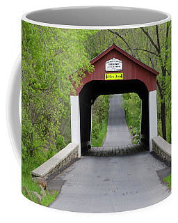 Van Sandt Covered Bridge - Bucks County Pa Coffee Mug by Bill Cannon