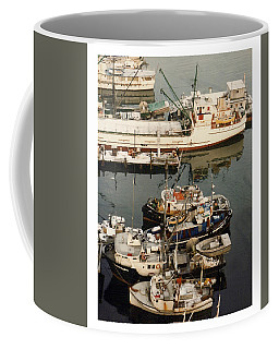Coffee Mug featuring the photograph Vancouver Harbor Fishin Fleet by Jack Pumphrey