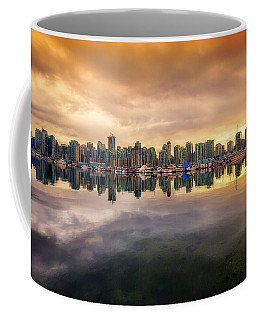 Coffee Mug featuring the photograph Vancouver Reflections by Eti Reid