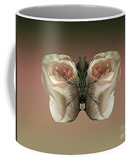 Vanilla Butterfly Rose Coffee Mug