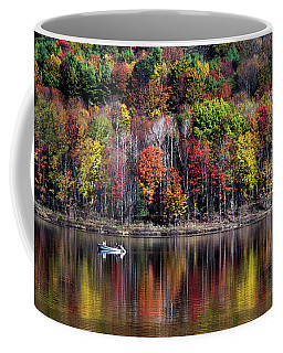 Vanishing Autumn Reflection Landscape Coffee Mug