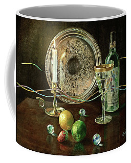 Vanitas Still Life By Candlelight With Les Bourgeois Wine Coffee Mug