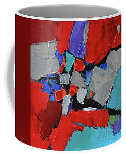 Coffee Mug featuring the painting Variation by Elise Palmigiani