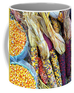 Variety Of Colorful Corn Coffee Mug by GoodMood Art
