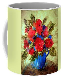 Vase Of Delight-still Life Painting By V.kelly Coffee Mug