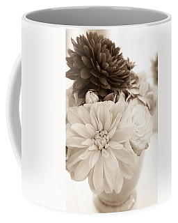 Vase Of Flowers In Sepia Coffee Mug