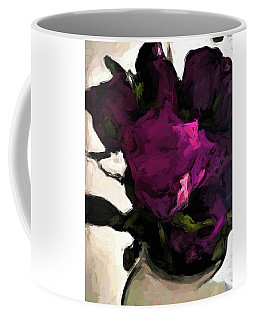 Vase Of Roses With Shadows 1 Coffee Mug