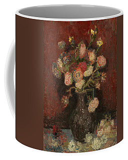 Coffee Mug featuring the painting Vase With Chinese Asters And Gladioli by Vincent van Gogh