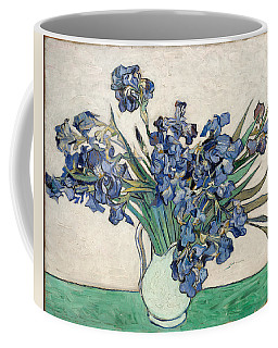 Coffee Mug featuring the painting Vase With Irises by Van Gogh