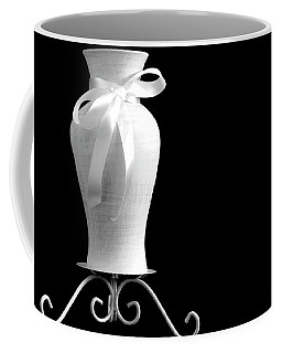 Vase With White Bow Coffee Mug