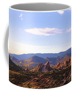 Coffee Mug featuring the photograph Vasquez Rocks Sky And Stones by Viktor Savchenko