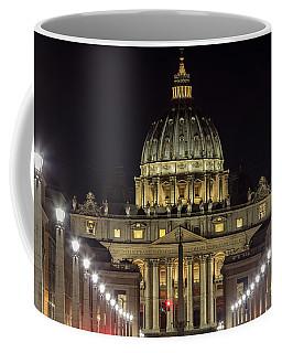Vatican At Night With Lights  Coffee Mug