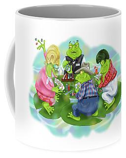 Vegas Frogs Playing Poker Coffee Mug