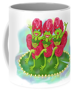 Vegas Frogs Showgirls Coffee Mug
