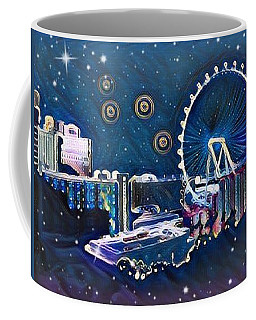 Vegas High Rollin Starry Nite Coffee Mug