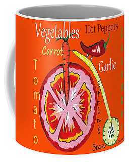 Vegetables - Typography Coffee Mug