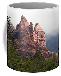 Coffee Mug featuring the photograph Veiled In Clouds by Phyllis Denton