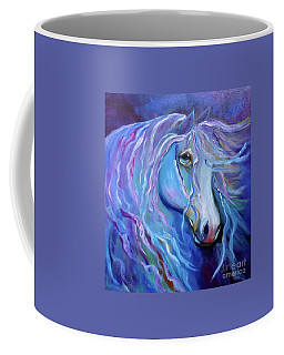 Coffee Mug featuring the painting Velvet Horse by Jenny Lee