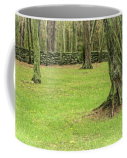 Venerable Trees And A Stone Wall Coffee Mug
