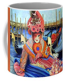 Venetian Carneval Mask With Bird Cage Coffee Mug