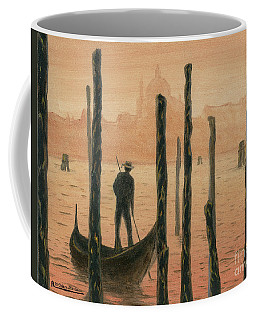 Venetian Gondolier In The Sunset Coffee Mug