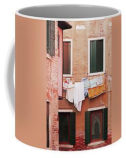 Venetian Laundry In Peach And Pink Coffee Mug by Brooke T Ryan