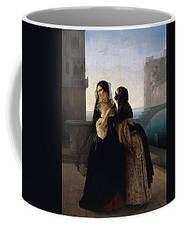 Coffee Mug featuring the painting Vengeance Is Sworn by Francesco Hayez