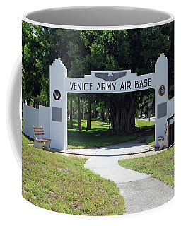 Coffee Mug featuring the photograph Venice Army Air Corps by Gary Wonning