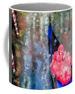 Venice Carnival. Masked Woman In A Gondola Coffee Mug
