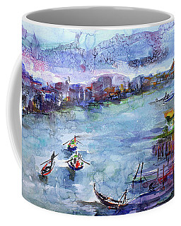 Venice Festivities Travel Italy Watercolor And Ink Coffee Mug