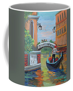 Coffee Mug featuring the painting Venice Gondolier 1 by Diane McClary