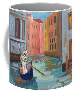 Coffee Mug featuring the painting Venice Gondolier 2 by Diane McClary