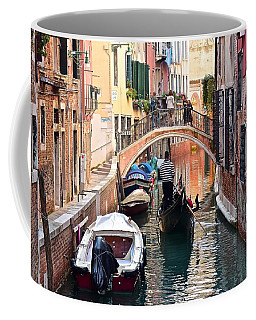 Venice Gondolier Coffee Mug by Frozen in Time Fine Art Photography
