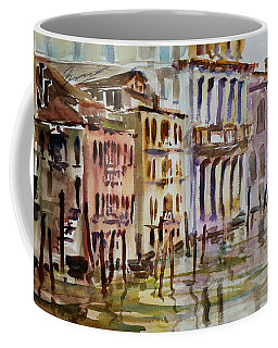 Coffee Mug featuring the painting Venice Impression II by Xueling Zou