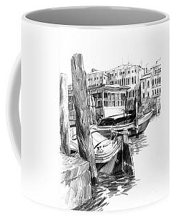 Venice Sketches. Vaporetto Jetty Coffee Mug