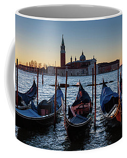Venice Sunrise With Gondolas Coffee Mug