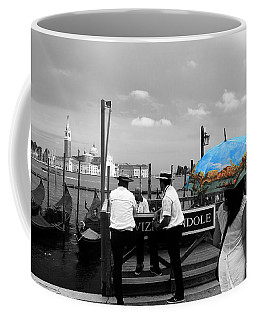 Coffee Mug featuring the photograph Venice Umbrella by Andrew Fare