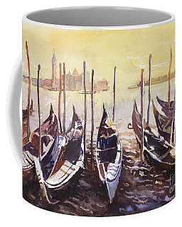 Coffee Mug featuring the painting Venice Watercolor- Italy by Ryan Fox