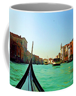 Coffee Mug featuring the photograph Venice Waterway by Roberta Byram