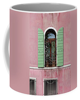 Venice Window In Pink And Green Coffee Mug